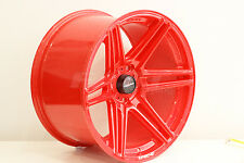"Lenso Project G 18"" 10.5J  alloy wheels stance drift race deep concave. PAIR RED"