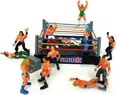 Lucha libre figura Anillo Conjunto de Juego Con 12 Niños Acción WWE Raw eso huele hacia abajo anillo de juguete