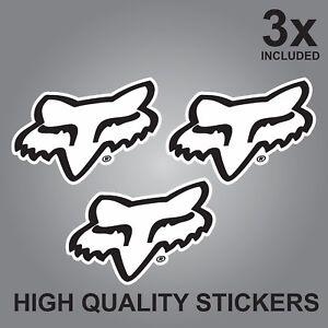 3x Fox Bikes Accessories Quality Printed Stickers Head Helmets Ebay