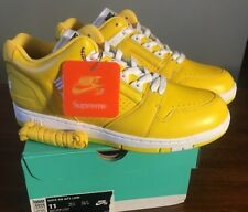 3c503fa99ce3 Supreme X Nike SB Air Force 2 Low Size 11 Yellow Varsity Maize Aa0871 717  Af2
