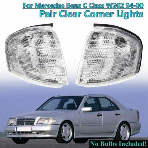 Pair Turn Signal Side Corner Lamp Light For Mercedes Benz C Class W202//C180//C220