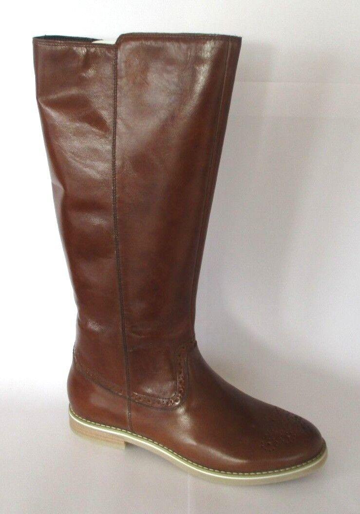 Pier One clásica señora botas zapatos cognac nuevo embalaje original PVP  a124