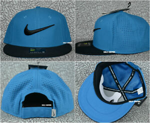 Nike-True-Golf-Hat-Adjustable-Strapback-Cap-729508-457-Industrial-Blue-Black-NEW