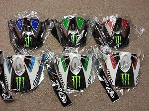 Thor-Force-Pro-Circuit-amp-S8-Motocross-Helmet-Visor-Peak-Kit-MONSTER-ENERGY