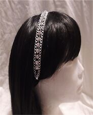 Ladies/Girl's Silver Plated Crystal Rhinestone Chain Stretch Hairband (NWT)