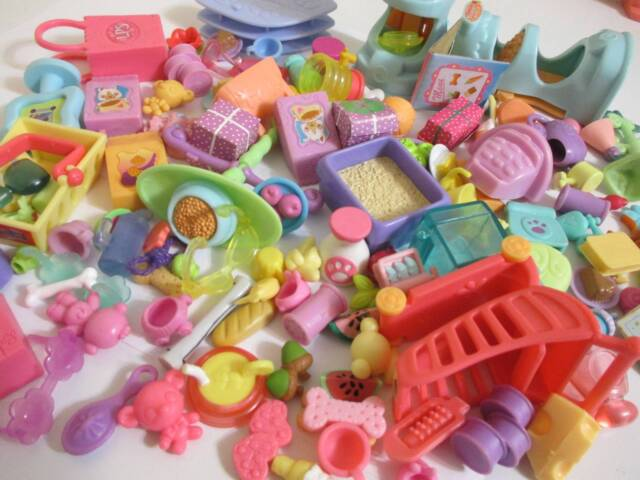 Littlest Pet Shop Lot Grocery Store Shopping Food Accessories 10 RANDOM Pieces