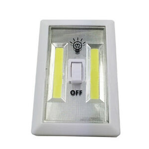 3w cob led de pared interruptor luz de pilas bajo consumo for Interruptor inalambrico luz
