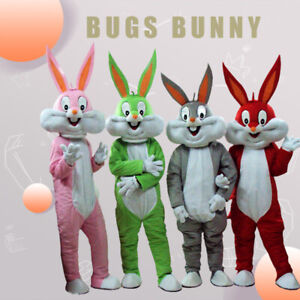 New Bugs Bunny Mascot Costume Adult Size Rabbit Easter Bunny Dresses US Seller!