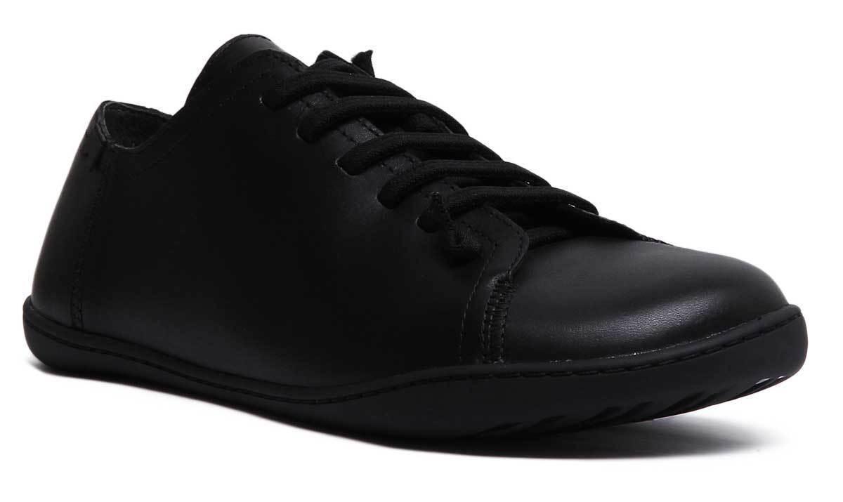 Camper Peu Cami para Hombre de Cuero Negro Zapatos Planos Informal Mate Mono tamaño de Reino Unido 6 - 12