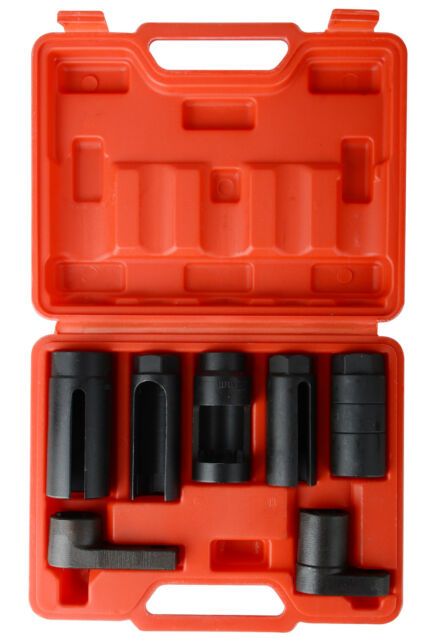 "UK 7 PCS Car Oxygen Sensor / Lambda sensor Socket Set Tool All Sizes 1/2"" Drive"