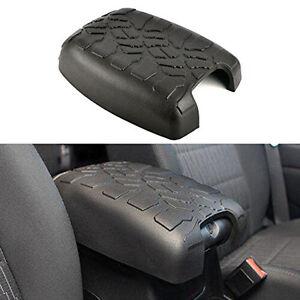 Black-Rubber-Center-Console-Armrest-Trim-Cover-For-Jeep-Wrangler-2011-2016-JK