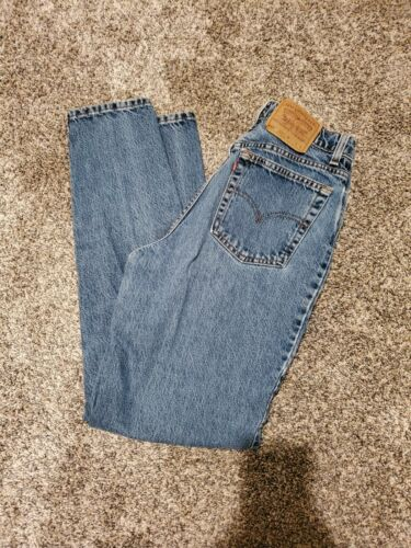 Vintage Levi's 512 Slim Medium Blue Jeans 13 Long/