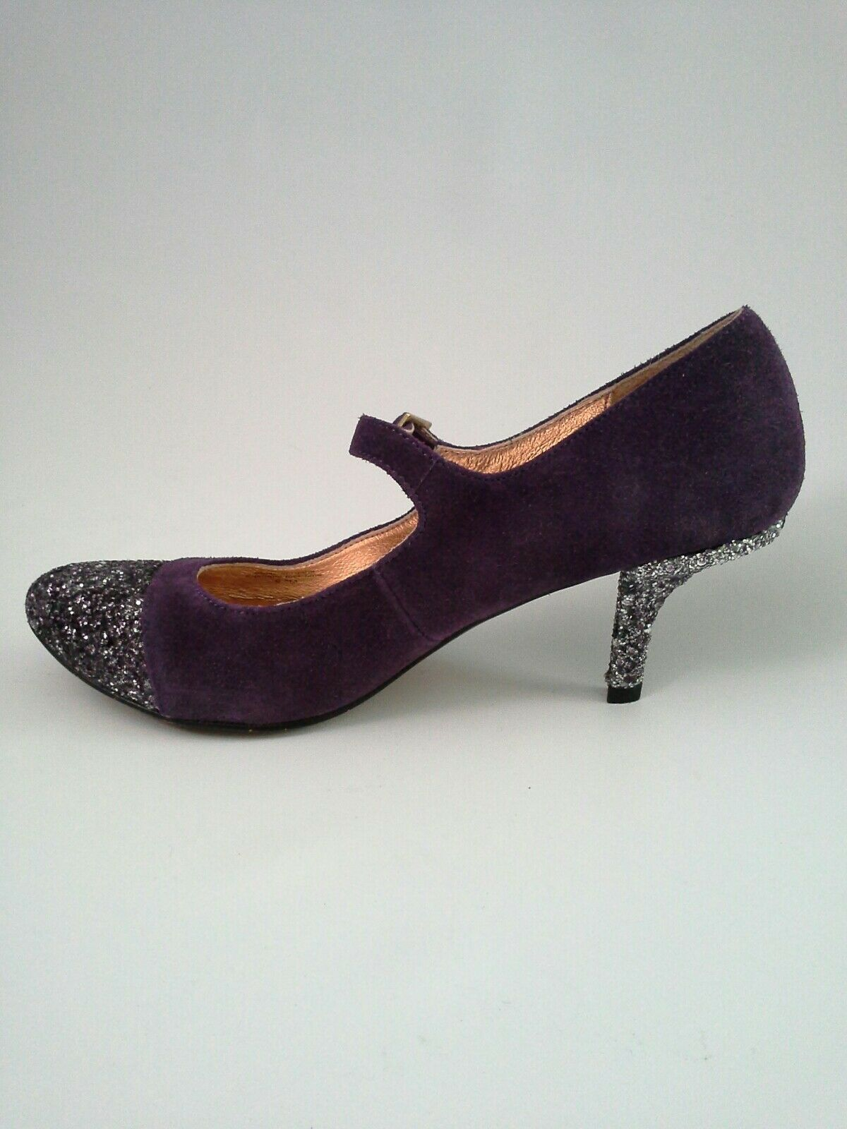 Anthropologie Anthropologie Anthropologie Glitter Cap Maryjane Heel Pumps by Miss Albright Sz 6.5  158 c3ee28
