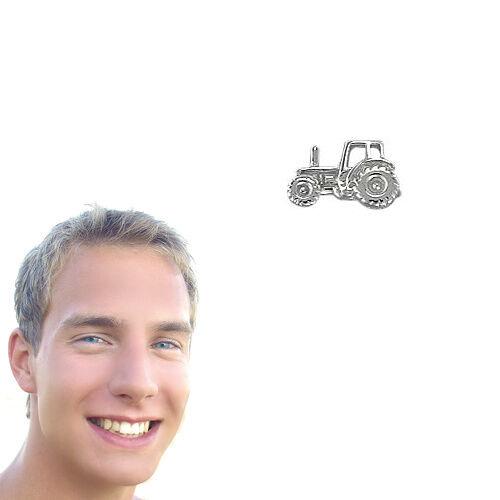 1 hombres tractor//señores remolcador individuales pendientes arete real de plata 925