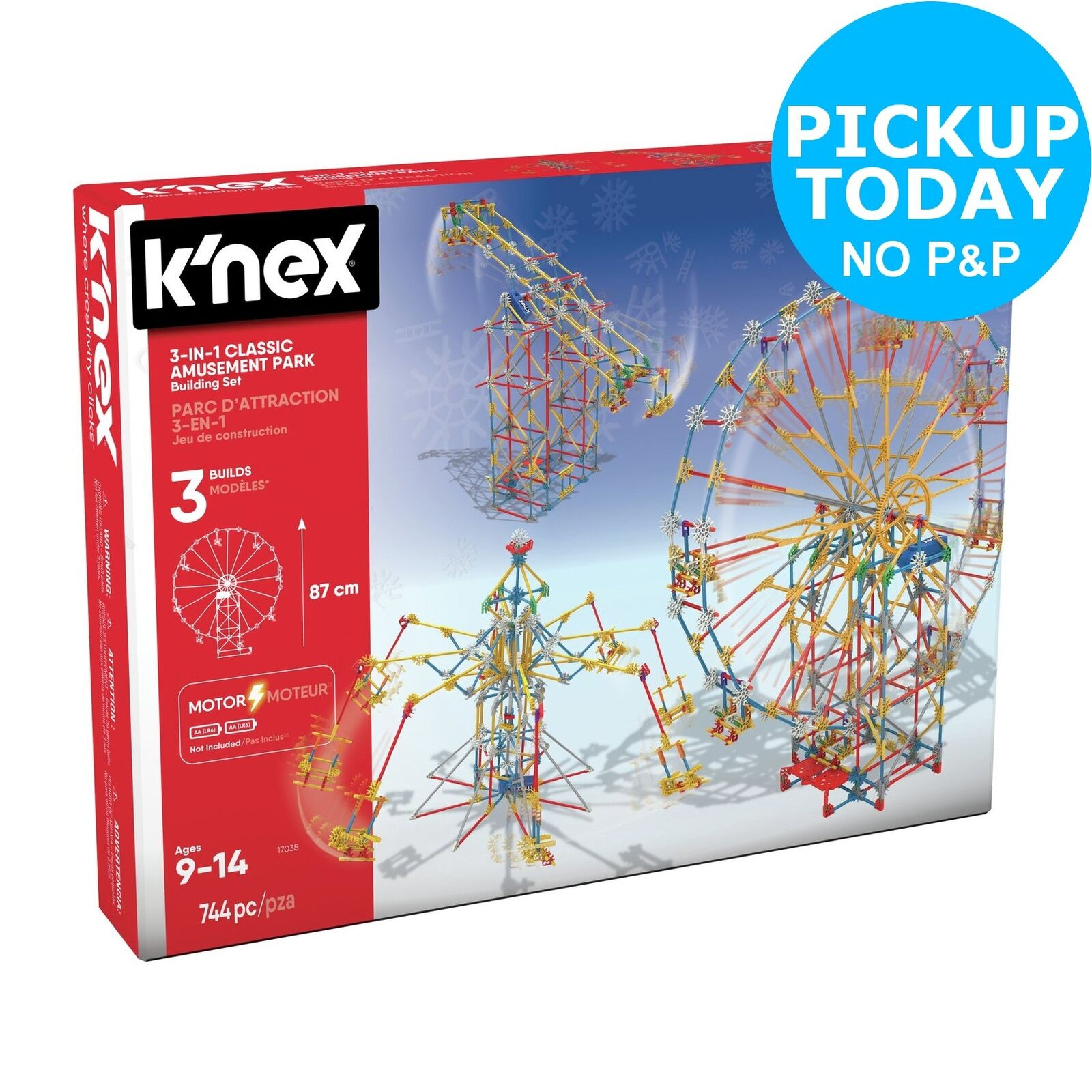 K'NEX 744 Part 3-in-1 Amusement Park Building Set.