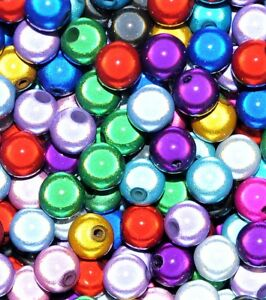 Acrylique-Miracle-Perles-rond-assorties-options-de-taille-4-6-8-10-12-mm