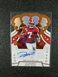 TREVON-DIGGS-2020-Panini-Chronicles-Crown-Royale-Auto-039-d-28-99-Alabama