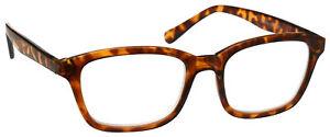 Mens-Brown-Tortoiseshell-Large-Designer-Style-Reading-Glasses-UV-Reader