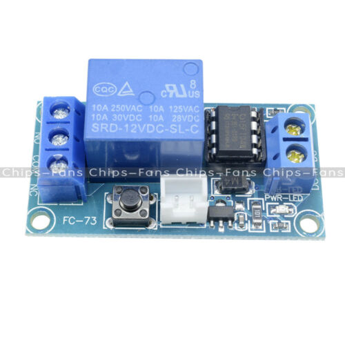 DC 12V 1 Channel Latching Relay Module with Touch Bistable Switch MCU Control