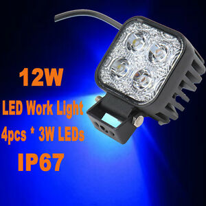 12W-Work-Light-Flood-Spot-Offroad-Driving-Lamp-For-Car-Motorcycle-Jeep-Boat-IP67