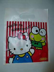7c42fe285f7a Sanrio Hello Kitty Keroppi Pochacco Monki 3 Gift Bags Vintage