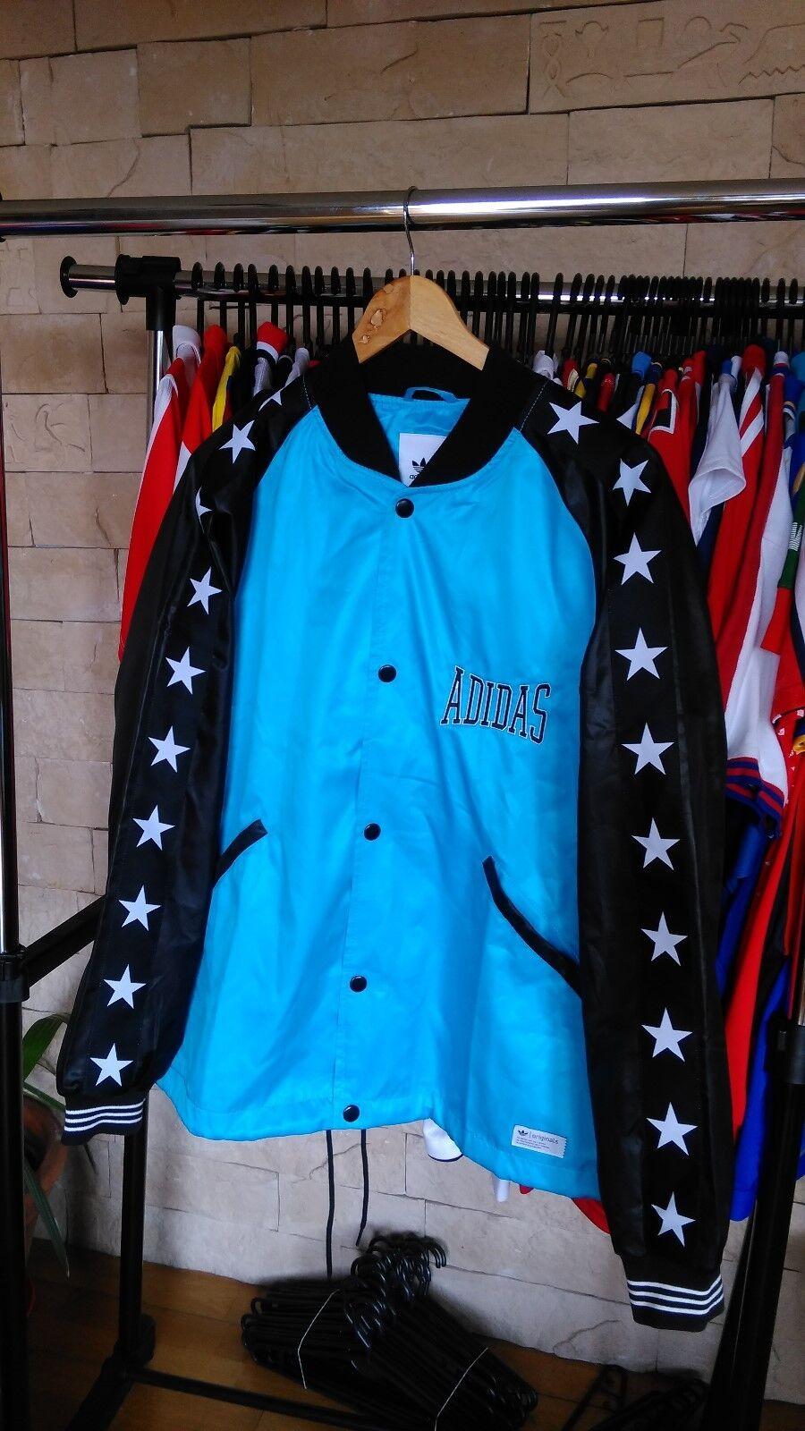 Adidas NEUF L t bleu noir 1974 vestes tracking Blouson Boxer