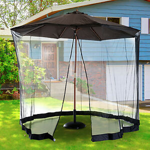 ... 10FT Outdoor Umbrella Table Screen Patio Cover With
