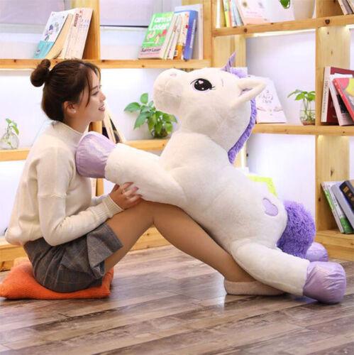 Unicorn Plush Toys Giant Stuffed Animal Horse Toys for Children Soft Doll Home
