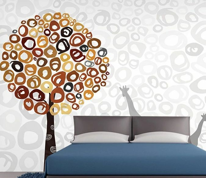 3D Albero tondo 3 Parete Murale Foto Carta da parati immagine sfondo muro stampa