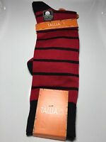 Mens Tallia Orange Couture Multi Color Designer Striped Socks