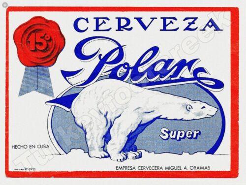 """CERVEZA POLAR SUPER BEER LABEL 9/"""" x 12/"""" SIGN"""