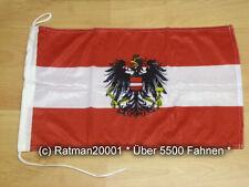 Fahnen Flagge Österreich mit Wappen Bootsfahne Tischwimpel Biker - 30 x 45 cm