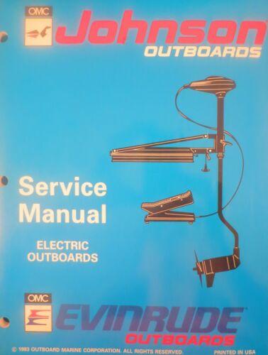 1994 Johnson Evinrude Electric Outboard Trolling Motor Service Repair Manual OMC