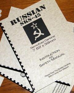 russian sks 45 semi auto carbine 7 62 cal rifle gun owners manual ebay rh ebay com norinco sks owners manual russian sks owners manual