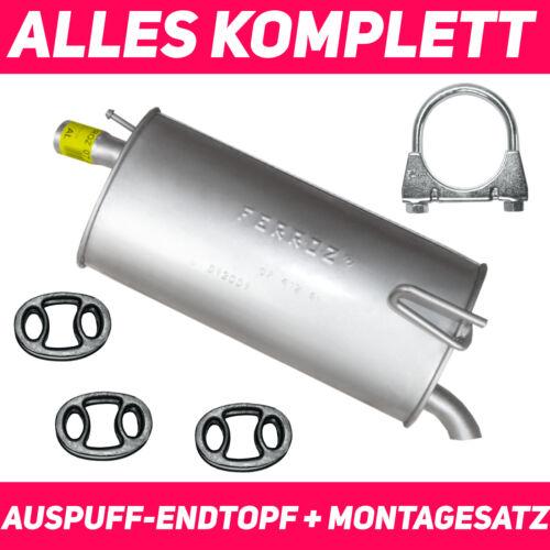 Endschalldämpfer Endtopf Auspuff  für Opel Meriva A 03-10 1.4 1.6 1.6 0