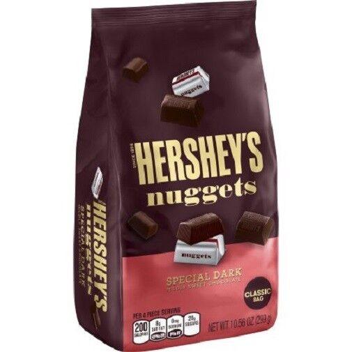 Hershey S Nuggets Special Dark Mildly Sweet Chocolate 10 56 Oz 2 Bags Ebay