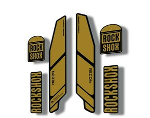 Rock Shox RECON 2014 Mountain Bike Cycling Decal Kit Sticker Adhesive Gold