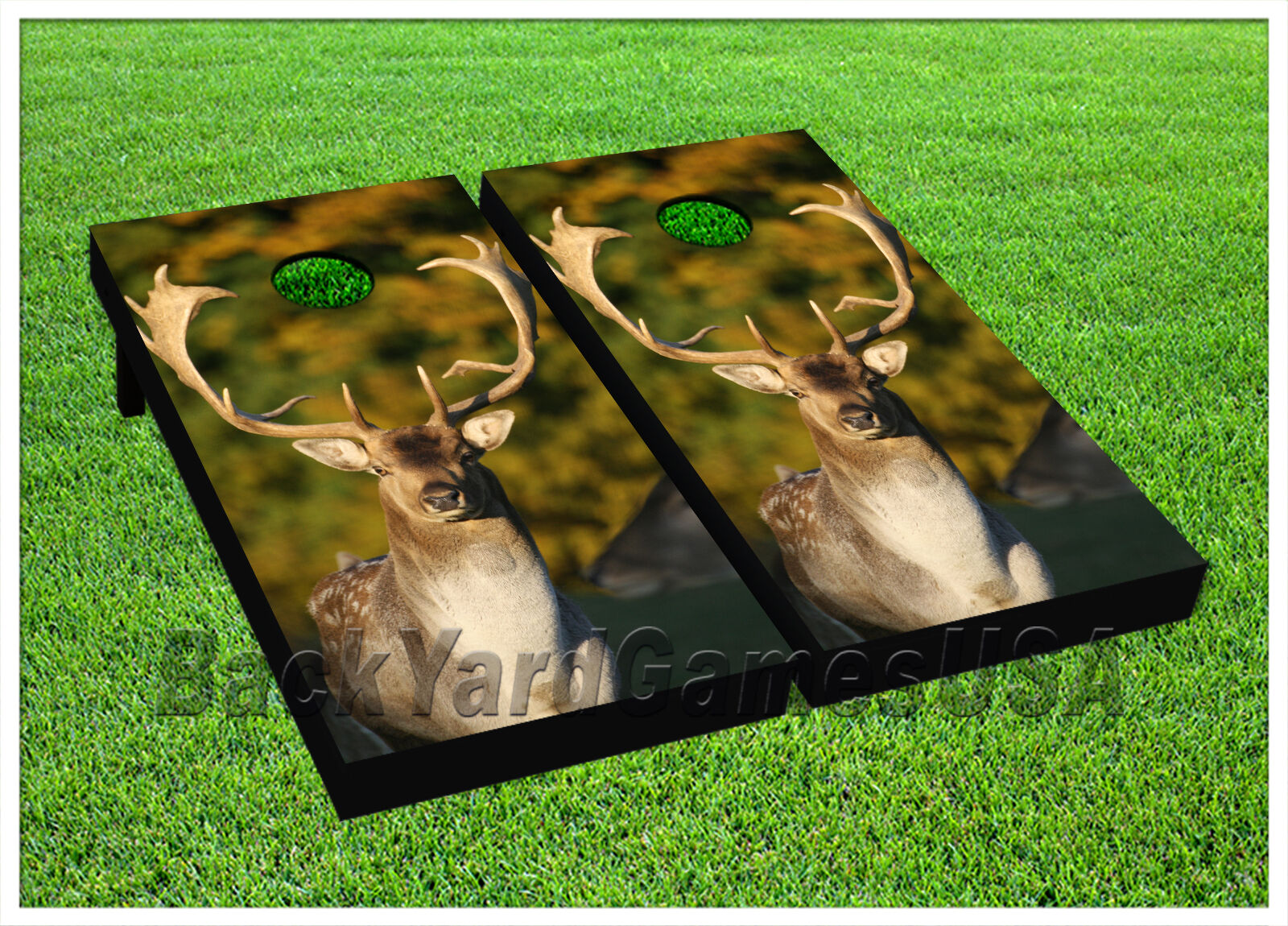 VINYL CORNHOLE BEANBAG Boards Motionless Wild Deer Wraps 1120