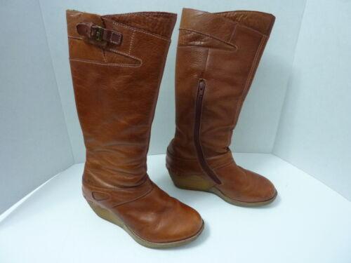 Doc Dr. Martens Aaliyah Knee High Boots (Dark Tan)