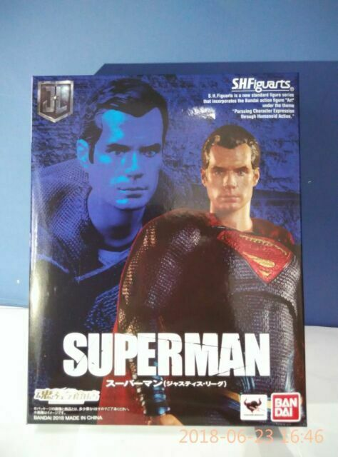 Brand New!! Bandai S.H.Figuarts SHF Justice League Superman Action Figure!