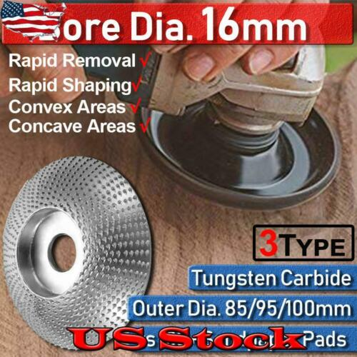 16mm Tungsten Carbide Grinding Wheel Disc Wood Carving Tool For Angle Grinder US