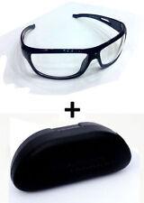 Day Driving Vision Anti Glare White Lens Sunglasses Goggles Sun Glasses case