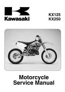 kawasaki service manual 2003 kx125 kx250 2004 kx125 kx250 rh ebay com 2003 kawasaki kx125 service manual pdf 2003 kawasaki kx 125 service manual