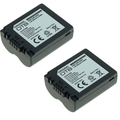 Batería 2x para Panasonic Lumix dmc-fz8 dmc-fz18 dmc-fz28 dmc-fz30 dmc-fz50 s006