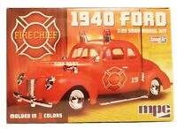 Mpc 815 1/25 Scale 1940 Ford Fire Chief Super Snap-it Plastic Model Kit