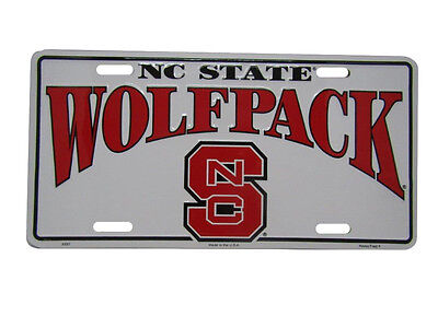 "North Carolina Wolfpack NCS Football Diamond 6/""x12/"" Aluminum License Plate Tag"