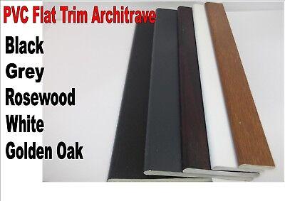 Innovo 65mm White 2 Metre Length PVC UPVC Window Flat Trim Architrave Fillet Finish Capping