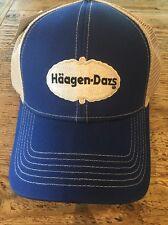 Haagen Dazs  Blue Tan Mesh Adjustable Hat Cap NEW