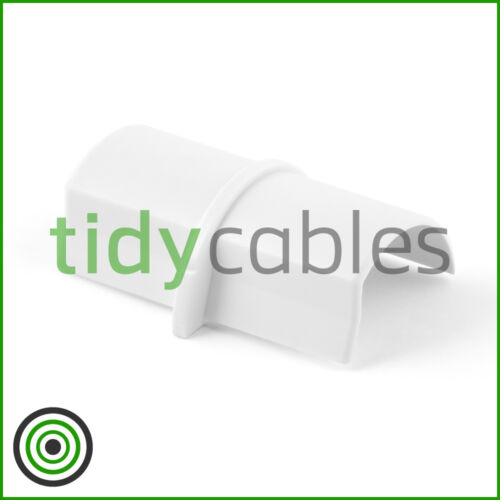 D-Line 30x15 Connecting Joint TV Cable Cover Wire Hiding Trunking All Colours