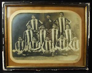 Photographie-de-l-039-equipe-de-football-Chasseurs-alpins-Boulogne-sur-mer-foot-1930